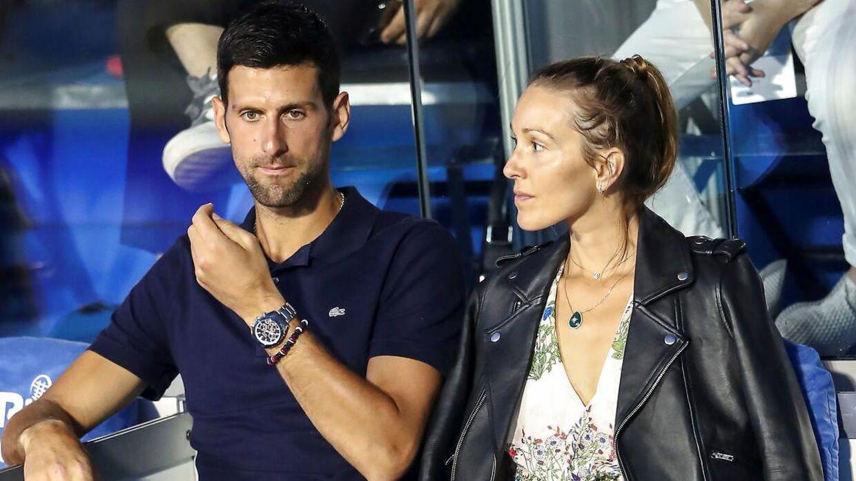 Novak Djokovic og konen Jelena er begge testet positiv efter turneringen.