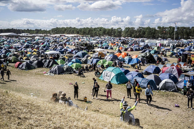 Normalt ser der sådan ud på campingområdet.