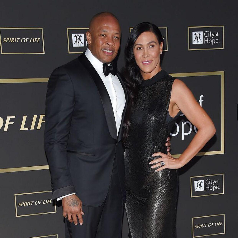 Her ses ægteparret Nicole Young og dr. Dre sammen i 2018. De har børnene Truly og Truice Young sammen
