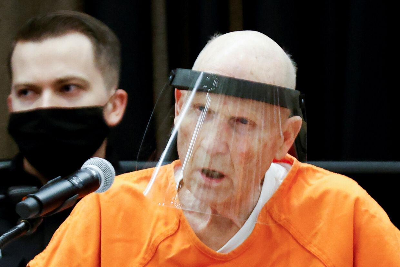 Den tidligere politibetjent Joseph James DeAngelo har indgået en aftale med anklagemyndigheden og erkendt sig skyldig i en lang række drab og voldtægter i Californien for over 40 år siden. Fred Greaves/Reuters