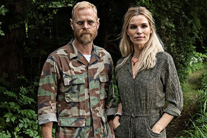 Carsten Bjørnlund og Marie Bach Hansen spillede henholdsvis Frederik Grønnegaard og Signe Sunshine Larsen i DR-dramaet Arvingerne. Nu indtager de TV2-serien Hvide Sande. Per Arnesen/TV2/Free