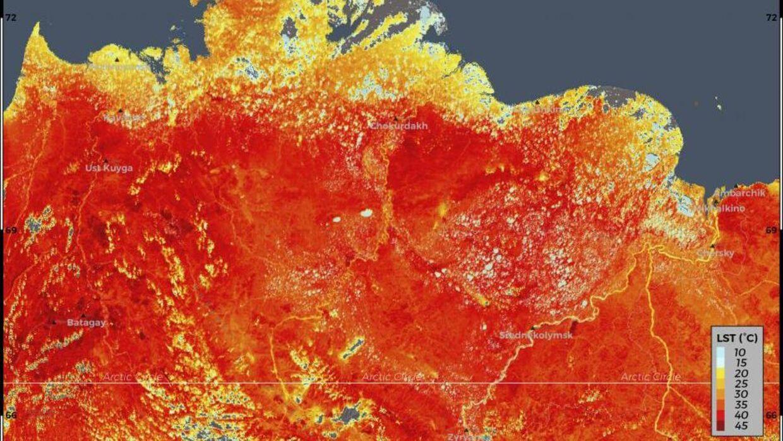 Landtemperaturerne i Sibirien viser nogle rekordhøje målinger på op til 38 grader. Det kan have voldsomme konsekvenser for det globale klima, hvis permafrosten tør.