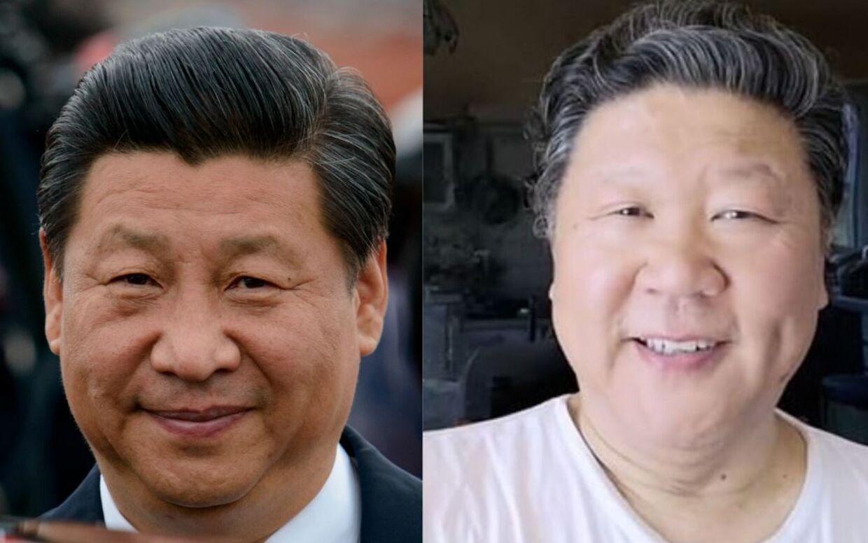 Hvem er hvem? Præsident Xi Jinping til venstre og operasanger Liu Keqing til højre.