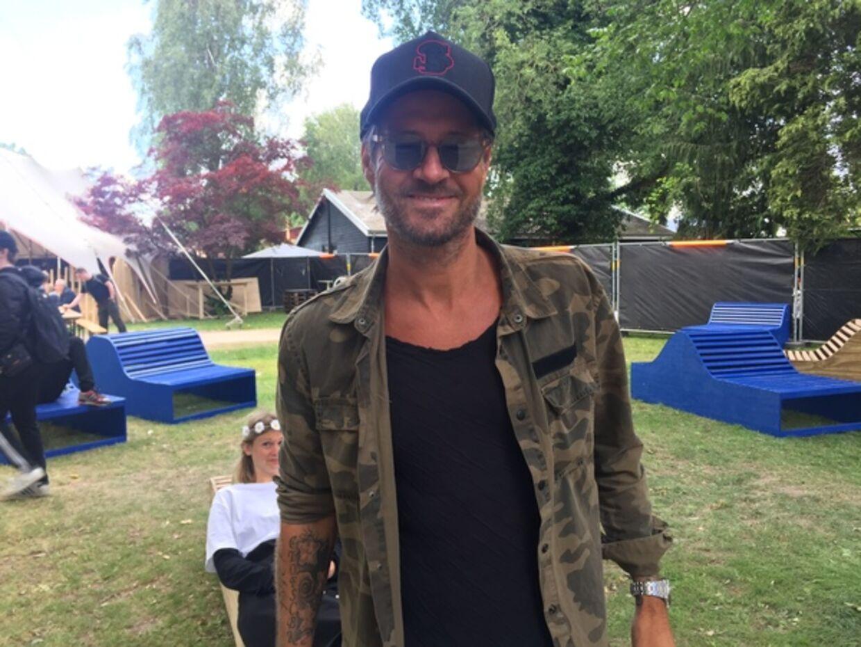 Frederik Fetterlein spottet i mediebyen, Roskilde 2019.