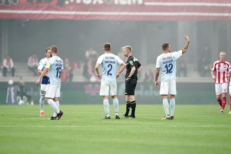 Finale i Sydbank Pokalen: AaB - SønderjyskE. Blue Water Arena Esbjerg onsdag den 1 juli 2020.
