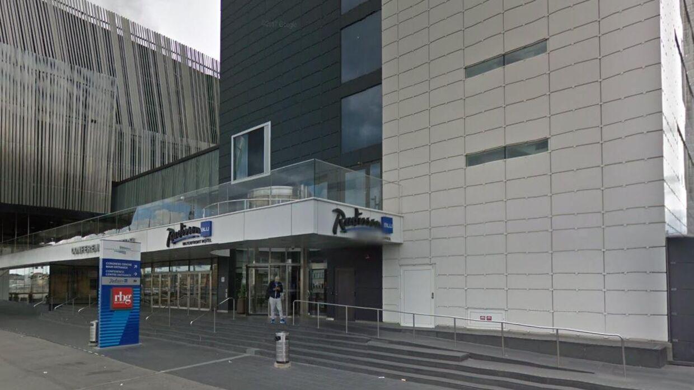 Kvinden blev fundet død på Radisson Waterfront-hotellet i Stockholm.
