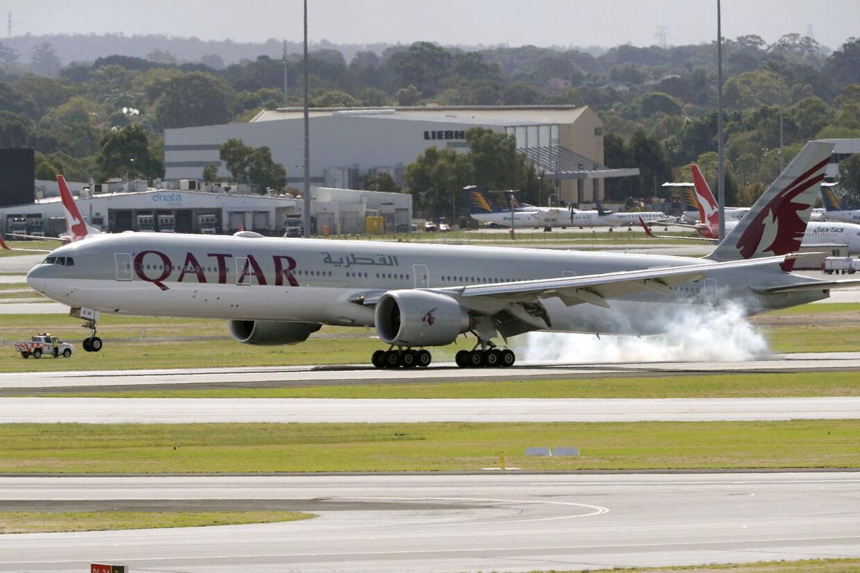 Her ses Boeing 777 fra Qatar Airways.