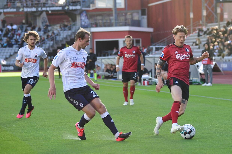 AGF møder FC København i Superligaens runde 31 på Ceres Park i Aarhus, søndag den 5. juli 2020.