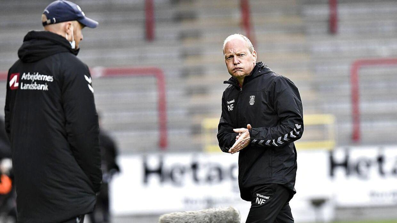 Niels Frederiksen var utilfreds med Brøndbys spil i Aalborg.