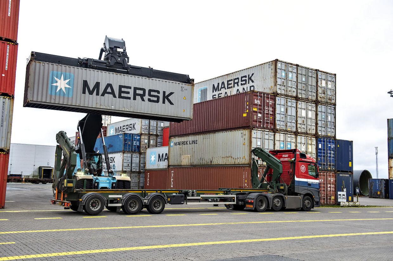 Det var i en container på Mærsk-skib, der blev fundet over 100 kilo kokain.