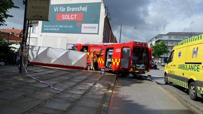 Billedet er taget fra ulykkesstedet på Frederiksundsvej.