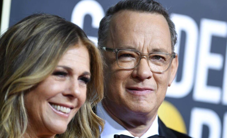 Tom Hanks og hustruen Rita Wilson.