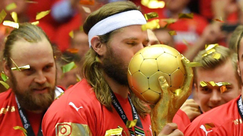 Mikkel Hansen vandt i 2019 VM-guld med resten af landsholdet på hjemmebane i Herning.