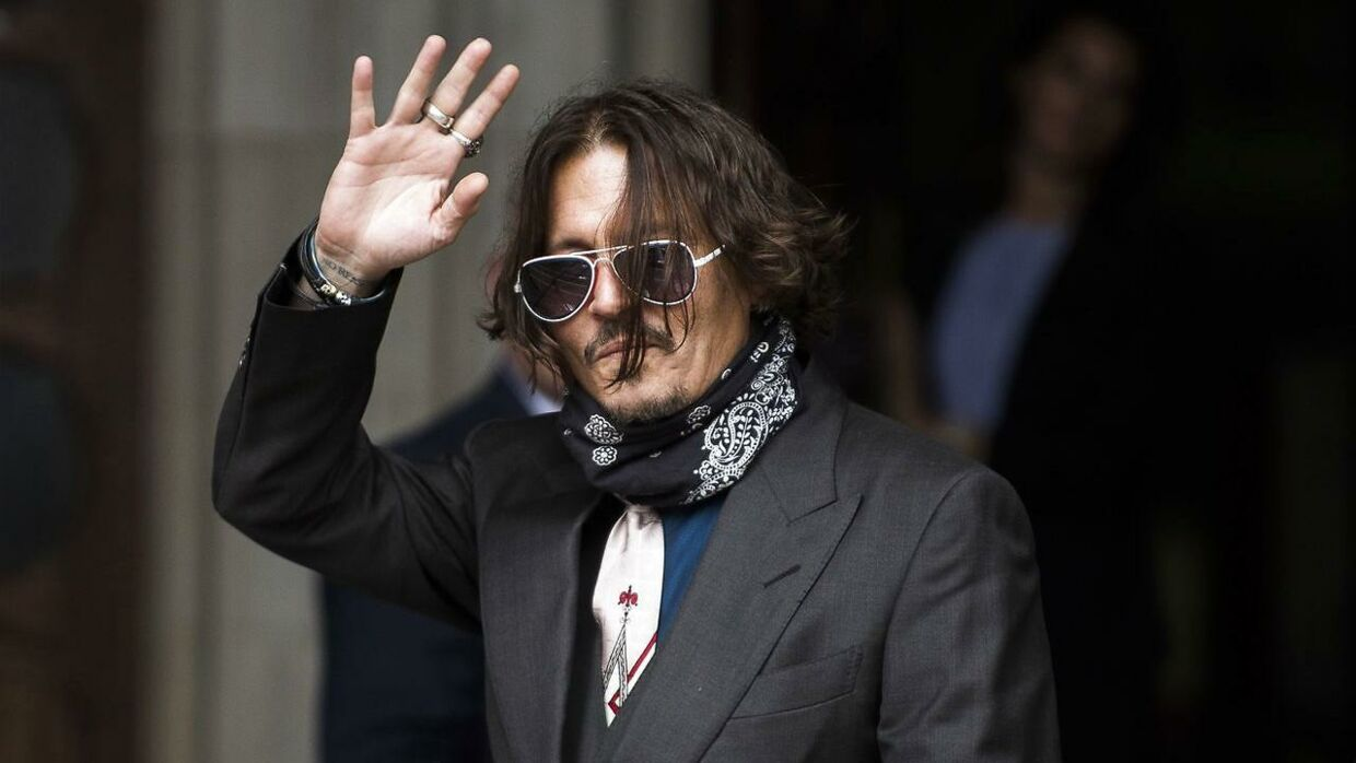 Johnny Depp ankom her til Royal Courts of Justice i London onsdag.