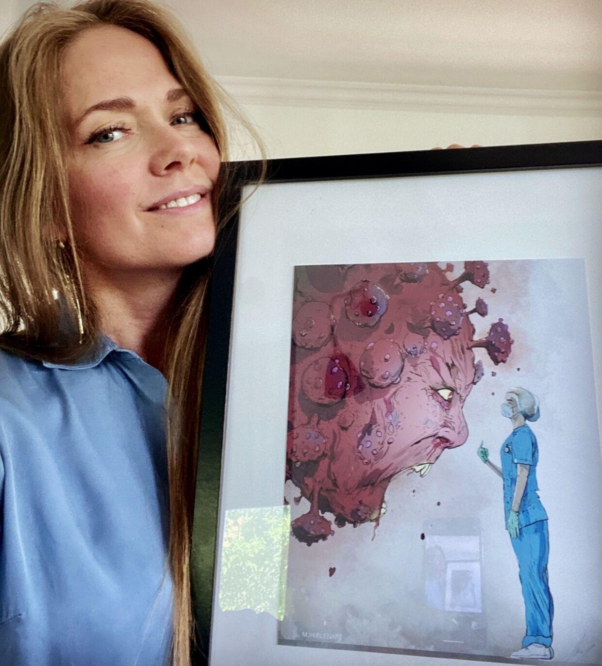 Susie Wordenskjold har fået minde fra en hård tid, som nu skal op på væggen.