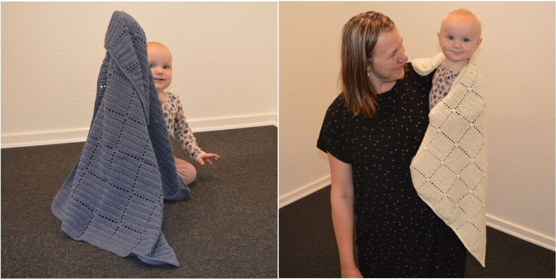 Nordic Baby Merino babytæppe - gratis hækleopskrift