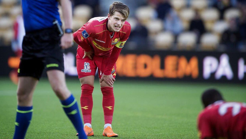 Mathias Jensen under sin tid i FC Nordsjælland. Nu kan han være med til at spille Brentford op i den bedste engelske fodboldrække.