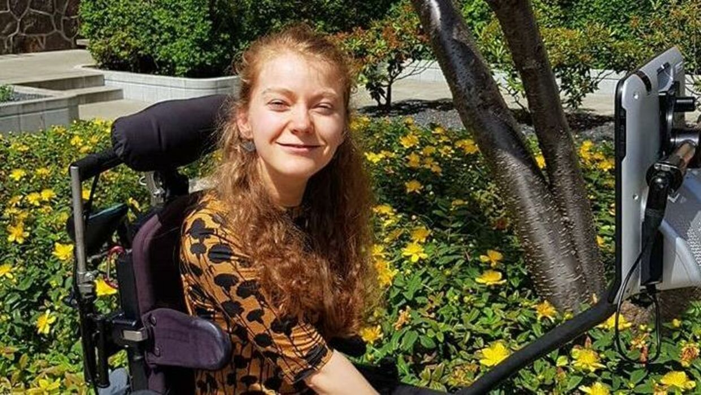 Astrid er superstudent trods et handicap. Foto: Privat