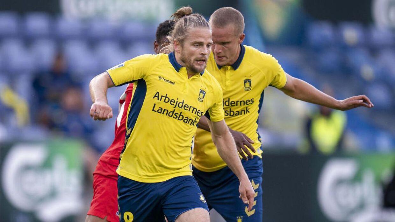 Brøndbys Kasper Fisker gjorde comeback mod FC Nordsjælland.