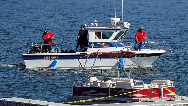 Politiet leder her efter liget af skuespillerinden, som formodes at være druknet.