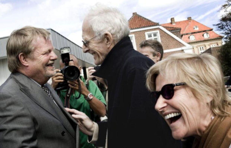 Kirsten Larsen var i godt humør, da hun 2006 sammen med sin samlever Mogens Amdi Petersen blev frifundet ved retten i Ringkøbing.