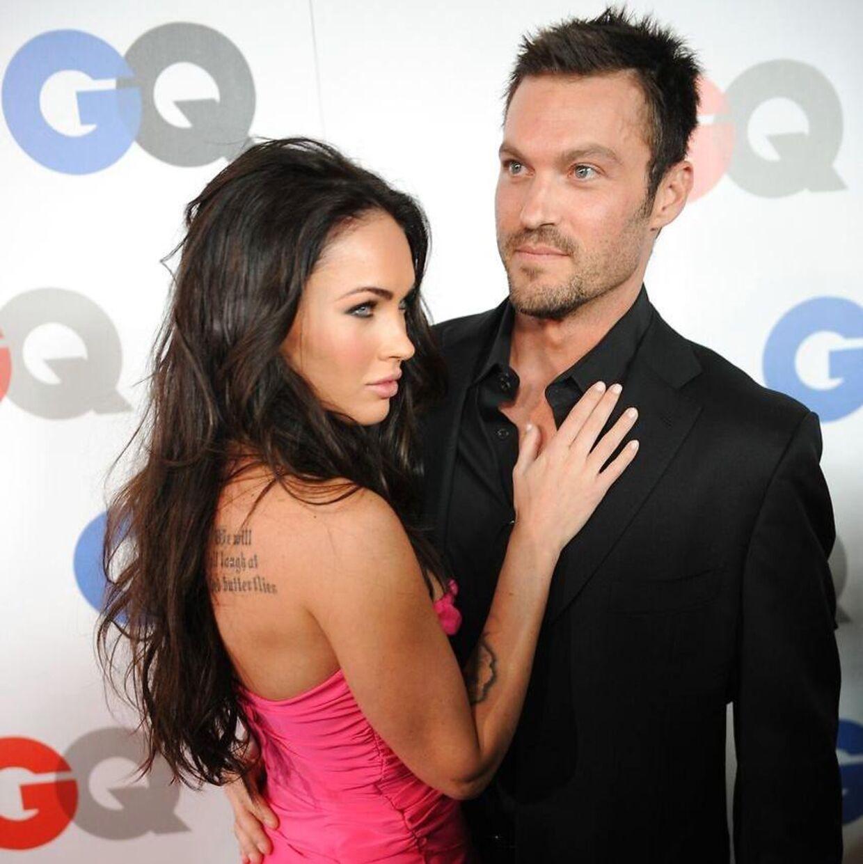 Her ses Brian Austin Green sammen med sin ekskone Megan Fox. (Arkivfoto fra 2008)