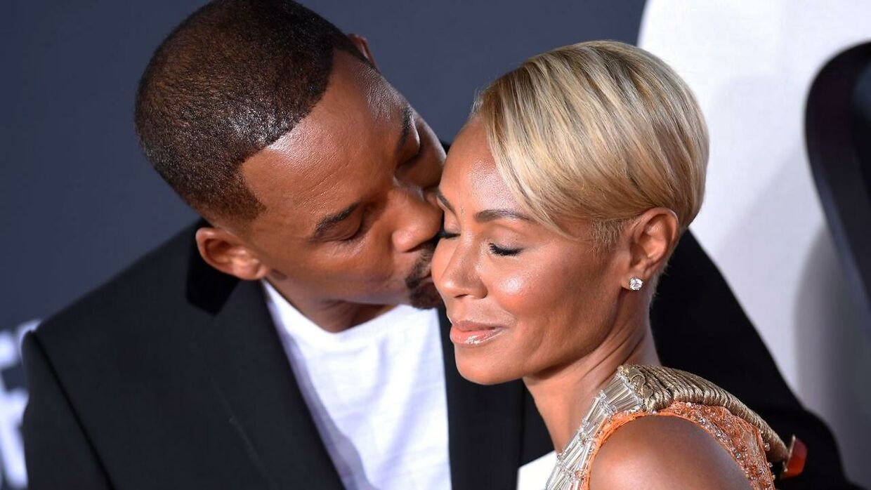"Will Smith med sin hustru Jada Pinkett Smith til premieren af ""Gemini Man"" på Chinese Theatre i Hollywood, Californien den 6. oktober 2019"