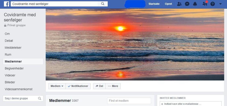 Sådan ser Facebook-gruppen ud.
