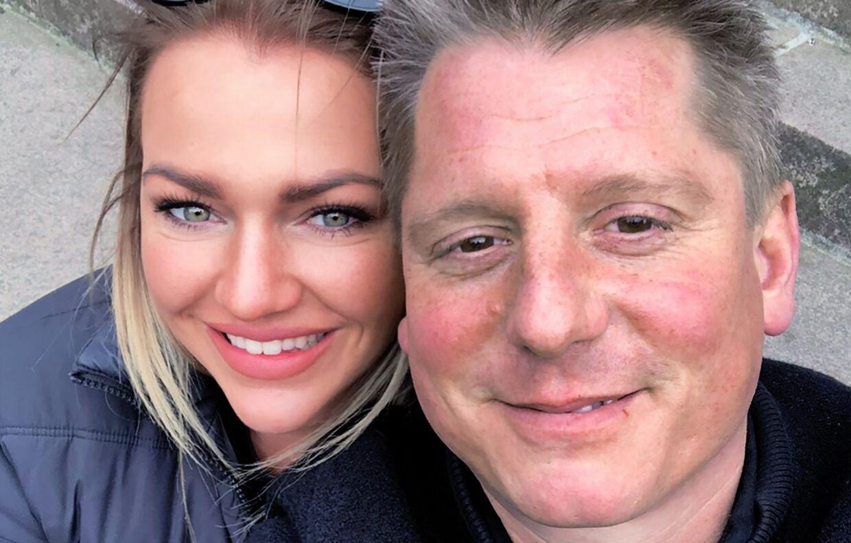 Robert Hansen sammen med Nanna Desiree Eltong Heding.