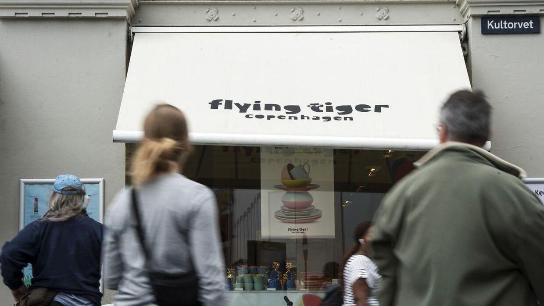 Arkivfoto af Flying Tiger på Kultorvet i København.