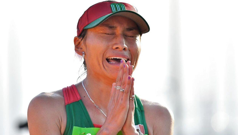 Mexicanske Maria Guadalupe Gonzalez efter hun vandt sølv ved OL i 2016 i Rio de Janeiro.