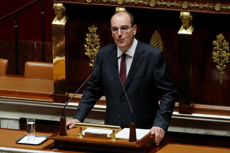 Frankrigs nye premierminister, Jean Castex, talte for første gang i den franske nationalforsamling onsdag, hvor han fremlagde regeringens program. Gonzalo Fuentes/Reuters
