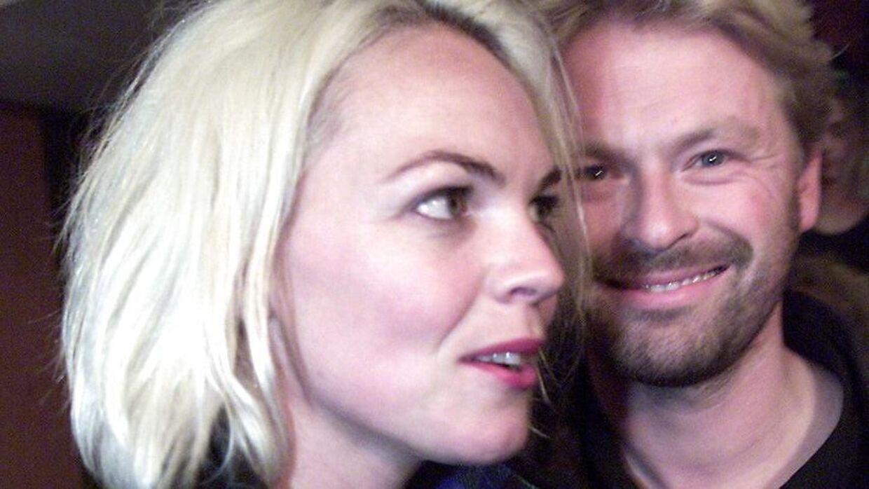 Bo Tengberg med ekskonen, skuespiller Trine Pallesen, som han har to børn sammen med.