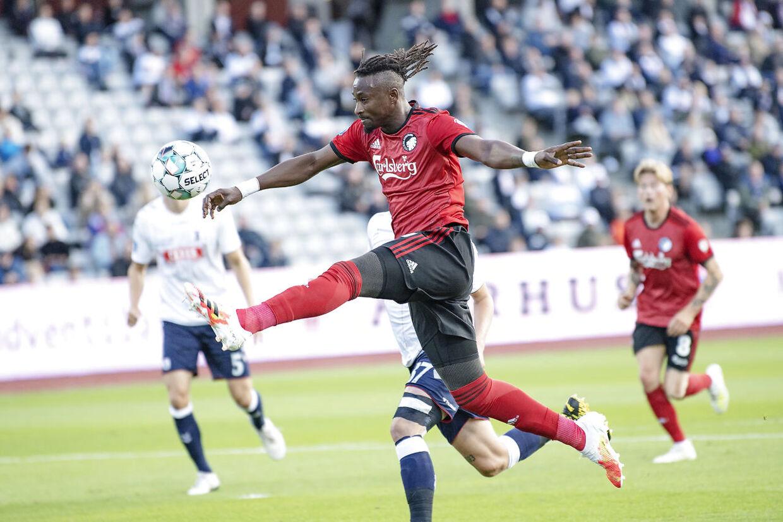 FCKs Dame N'Doye tæt på, men ingen mål denne gang i 3F Superligakampen AGF mod FC København på Ceres Park i Aarhus, søndag den 5. juli 2020. (Foto: Bo Amstrup/Ritzau Scanpix)