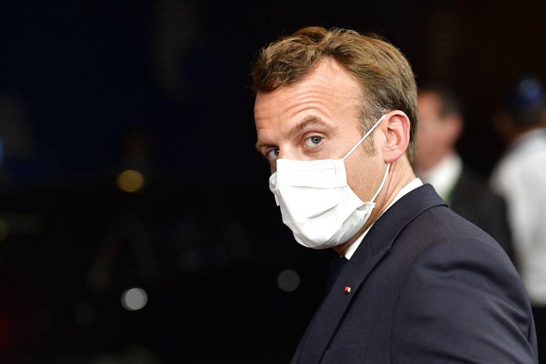 Emmanuel Macron hidsede sig angiveligt op mandag morgen.