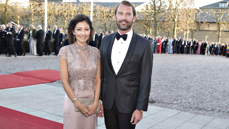 Grevinde Alexandra med sin eksmand Martin Jørgensen til festaften i Musikhuset i Aarhus for Dronning Margrethe, der fyldte 75 år.