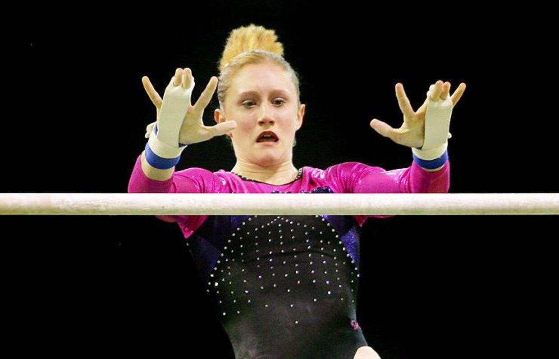En gymnast overvejede selvmord, mens andre fortæller, at de blev brudt ned både mentalt og fysisk. Her ses Olivia Vivian i aktion.
