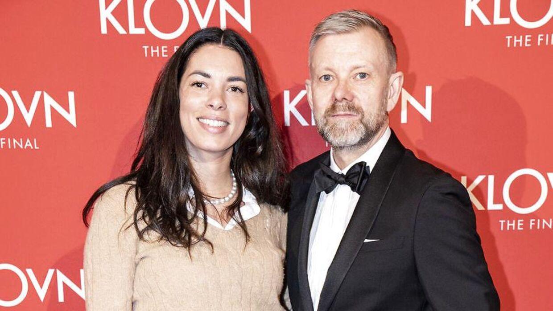 Casper og Isabel Christensen på den røde løber til gallapremiere på filmen 'Klovn The Final', i Bremen Teater onsdag den 29. januar 2020.