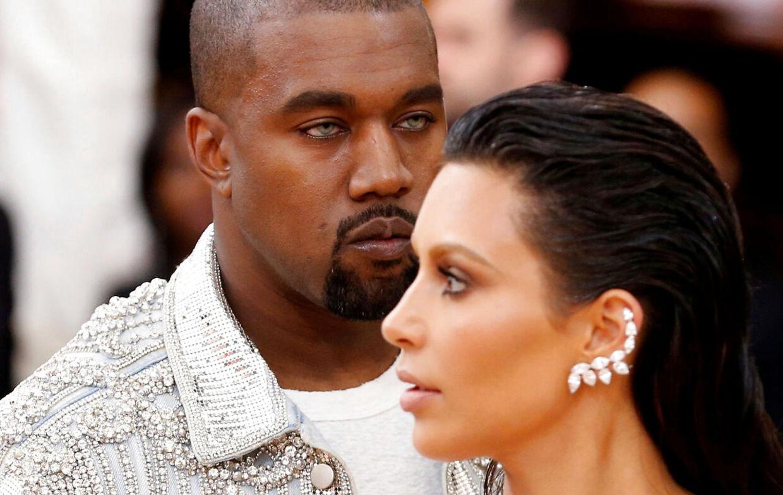 Kanye West og hans kone, Kim Kardashian, i 2016.