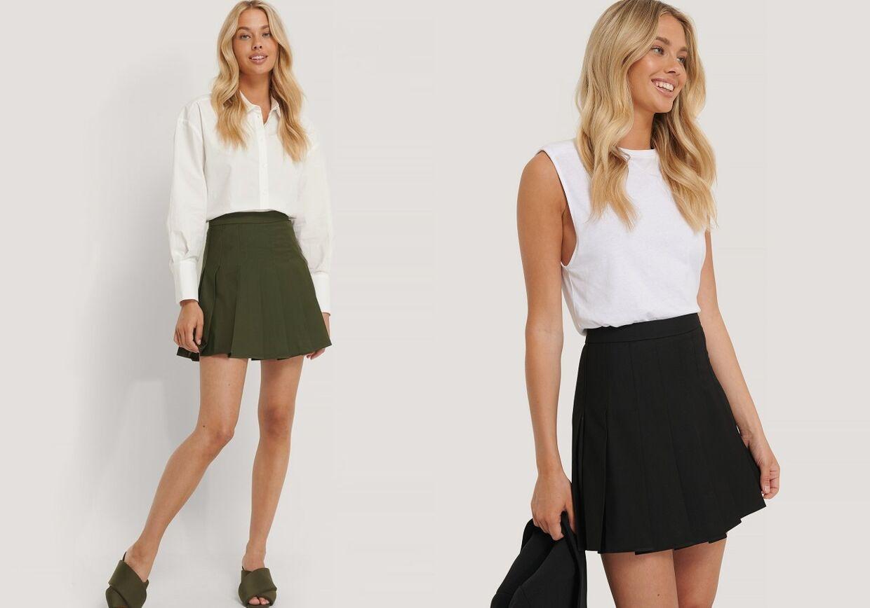En nederdel fremhæver dine sneaks.