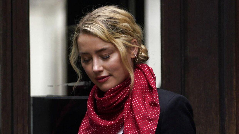 Her Amber Heard, da hun forleden ankom til retten.