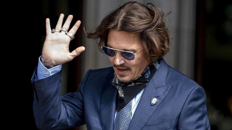 57-årige Johnny Depp ved retten i London torsdag i sidste uge.