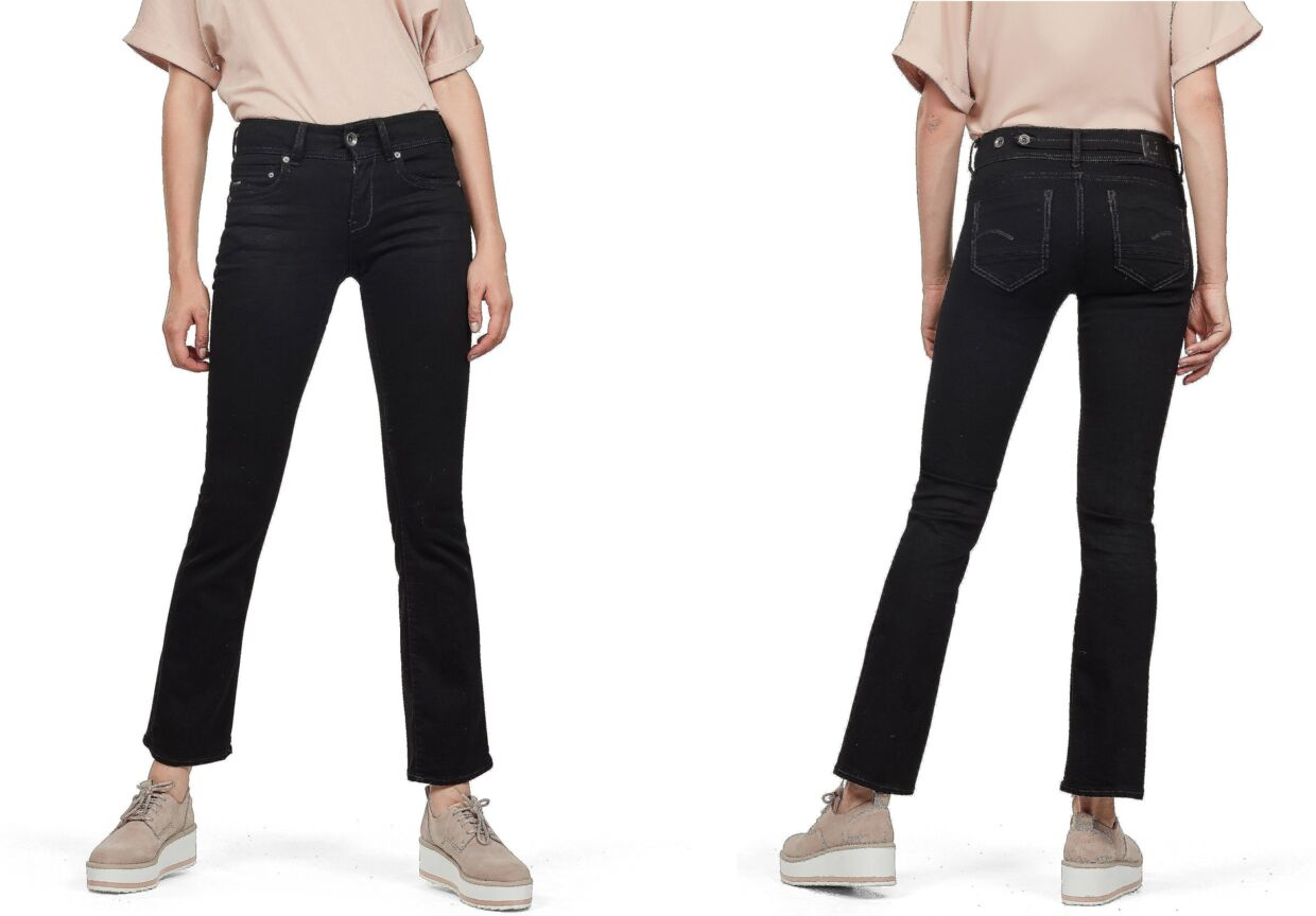 G-Star Raw bootcut jeans i sort med flare