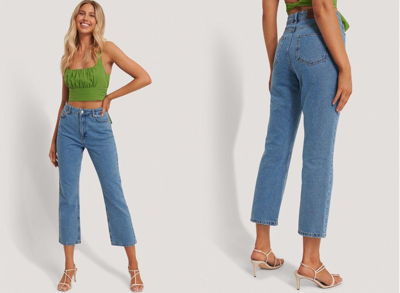 Højtaljede bukser med lige ben fra Cloé B x NA-KD