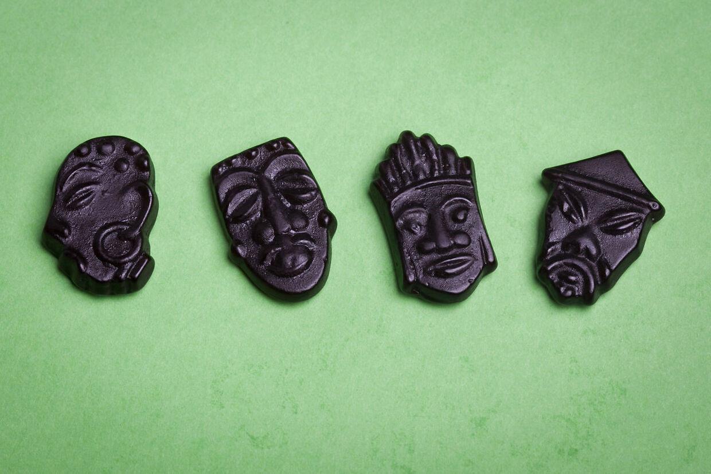 Ansigterne i Skippermix som de så ud, før Haribo ændrede dem i 2014.