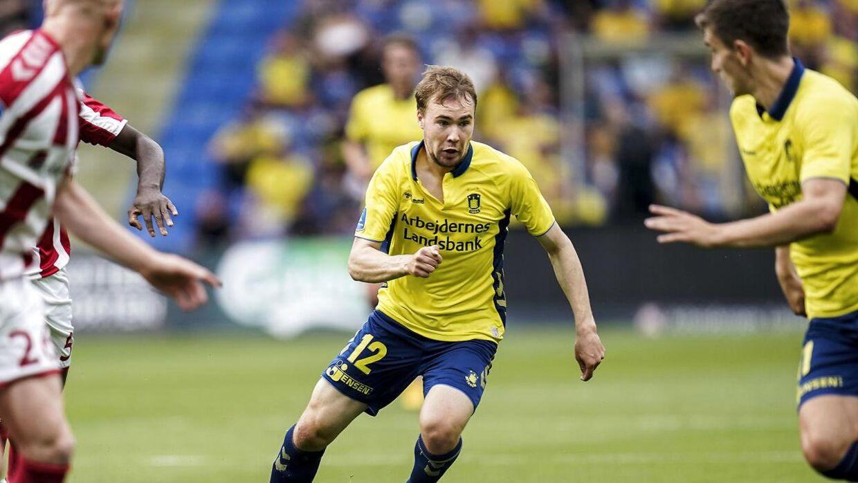 Brøndby IFs Simon Tibbling under Superligakampen mellem Brøndby IF og AaB, på Brøndby Stadion i Brøndby, søndag den 19. juli 2020.