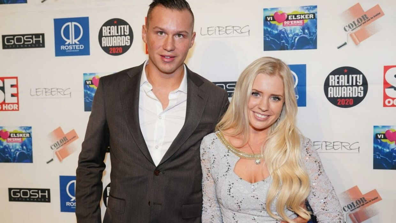 Michael Sommer og Maria Hjort Kronborg til Reality Awards 2020.