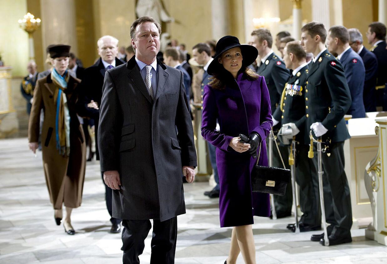 Prins Gustav af Berleburg og kæresten Carina Axelsson.