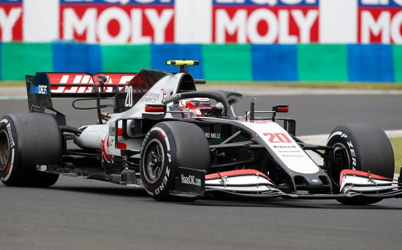 Magnussen under løbet på Hungaroring i Ungarn.