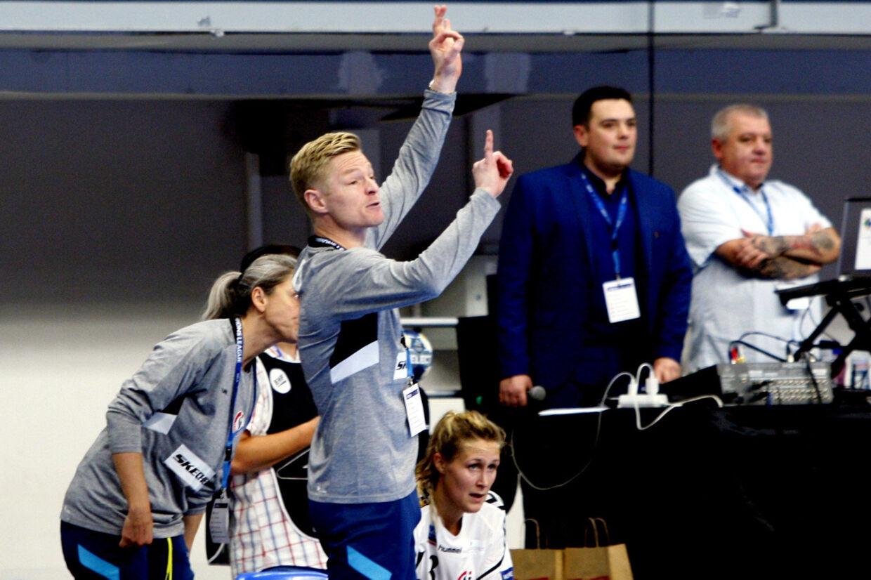 Jesper Jensen er cheftræner for det danske håndboldlandshold, der håber på at få en slutrunde på hjemmebane i december. (Arkivfoto) Sportxpress/Ritzau Scanpix